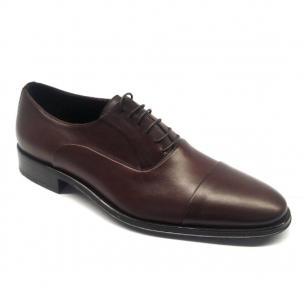 Bruno Magli Maioco Nappa Cap Toe Shoes Dark Brown Image