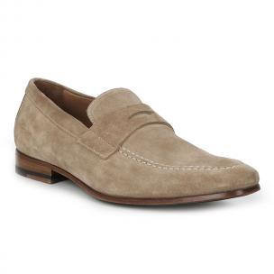 Bruno Magli Medordo Suede Loafers Sand Image