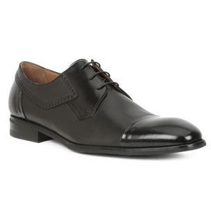 Bruno Magli Nino Nappa Cap Toe Derby Shoes Black Image