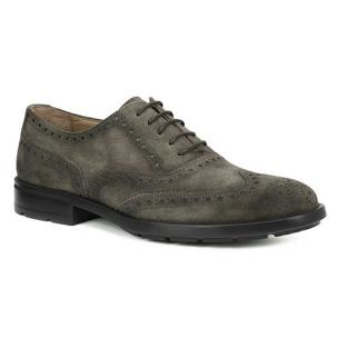 Bruno Magli Oliver Suede Wingtip Brogues Taupe Image