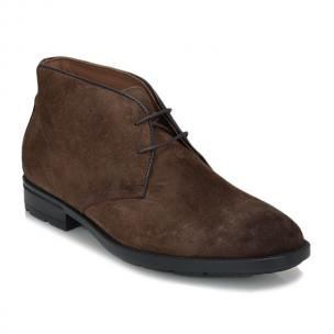 Bruno Magli Ozzy Suede Full Round Toe Boot Cognac Image