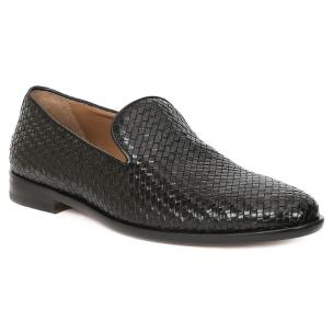 Bruno Magli Picasso Woven Loafers Black Image