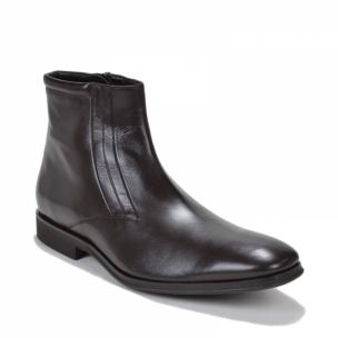Bruno Magli Raspino Nappa Side Zipper Boot Dark Brown Image