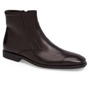 Bruno Magli Raspino Nappa Side Zipper Boots Black Image