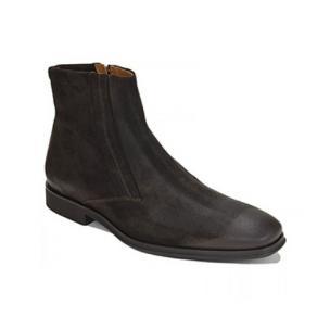 Bruno Magli Raspino Suede Boots Dark Brown Image