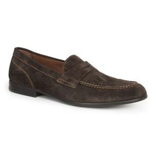 Bruno Magli Silas Suede Penny Loafers Dark Brown Image