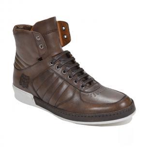 Bruno Magli Siro High Top Sneakers Dark Brown Image