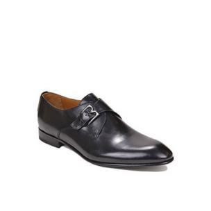 Bruno Magli Vitale Calfskin Monk Strap Shoes Black Image
