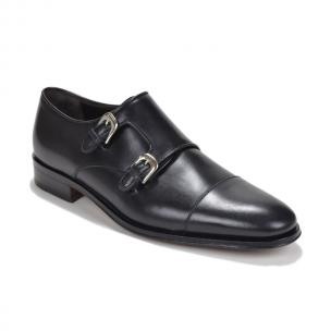Bruno Magli Wesley Double Monk Strap Shoes Black Image