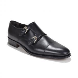 Bruno Magli Wesley Double Monk Strap Shoes Black Image