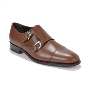 Bruno Magli Wesley Double Monk Strap Shoes Cognac Image