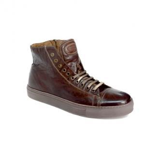 Calzoleria Toscana 1242 Dipped Calfskin Sneakers Brown Image