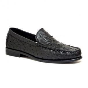 Calzoleria Toscana 1410 Ostrich Quill Loafers Black Image