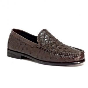 Calzoleria Toscana 1410 Ostrich Quill Loafers Brown Image