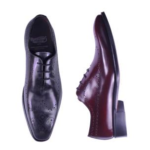 Calzoleria Toscana 1506 Wholecut Wingtip Oxfords Gray or Burgundy Image