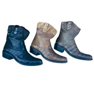 Calzoleria Toscana 3934 Alligator & Buffalo Boots Image
