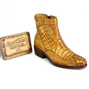 Calzoleria Toscana 4233 Caiman Hornback Side Zipper Boots Brick Image