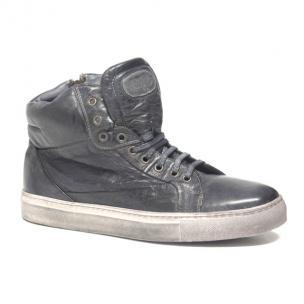 Calzoleria Toscana 5674 Padded Calfskin High Top Sneakers Stone Image