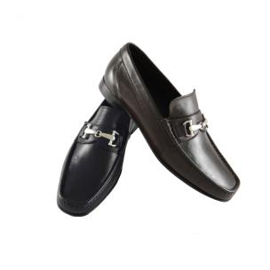 Calzoleria Toscana Soft Lambskin Loafers Black Image
