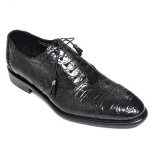 Calzoleria Toscana 7188 Caiman Cap Toe Shoes Black Image