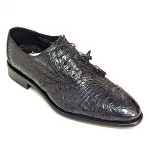 Calzoleria Toscana 7188 Caiman Cap Toe Shoes Navy Image