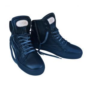 Calzoleria Toscana 7530 Soft Calfskin High Top Sneakers Black Image