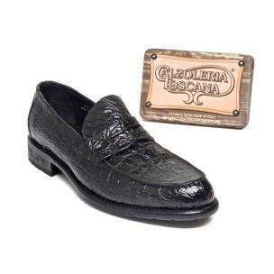 Calzoleria Toscana 8871 Caiman Penny Loafers Black Image
