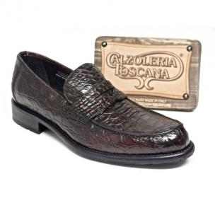 Calzoleria Toscana 8871 Caiman Penny Loafers Burgundy Image