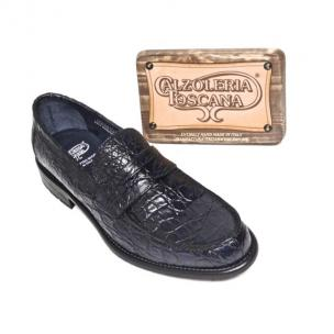 Calzoleria Toscana 8871 Caiman Penny Loafers Navy Image