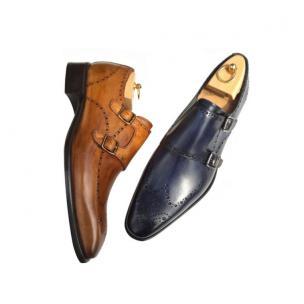 Calzoleria Toscana 8863 Wingtip Monk Strap Shoes Image