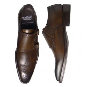 Calzoleria Toscana 8863 Wingtip Monk Strap Shoes Brown Image