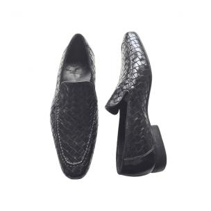 Calzoleria Toscana 9310 Woven Loafers Black Image