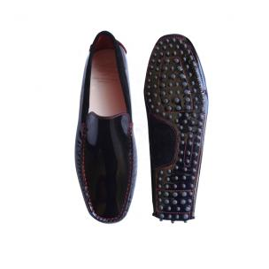 Calzoleria Toscana 9814 Patent Leather Driving Loafers Black Image