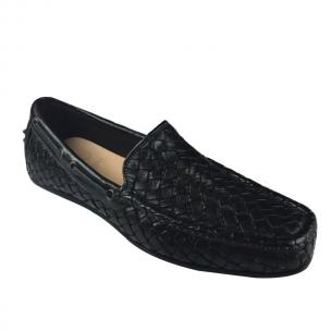 Calzoleria Toscana A748 Woven Loafers Black Image