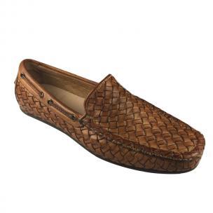 Calzoleria Toscana A748 Woven Loafers Brick Image