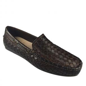 Calzoleria Toscana A748 Woven Loafers Dark Brown Image