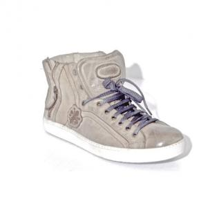 Calzoleria Toscana A892 Calfskin High Top Sneakers Cloud Image