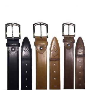 Calzoleria Toscana C200 Perforated Calfskin Belts Image