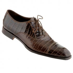 Caporicci 1114 Alligator Cap Toe Shoes TD Moro Image