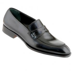 Caporicci 1205 Calfskin Penny Loafers Black Image