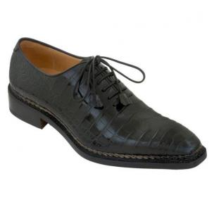 Caporicci 1400 Norwegian Stitch Alligator Oxfords Black Image
