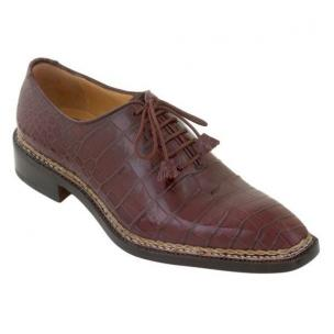 Caporicci 1400 Norwegian Stitch Alligator Oxfords Burgundy Image