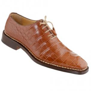 Caporicci 1400 Norwegian Stitch Alligator Oxfords Gold Image