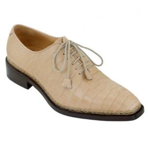 Caporicci 1400 Norwegian Stitch Alligator Oxfords Natural Image