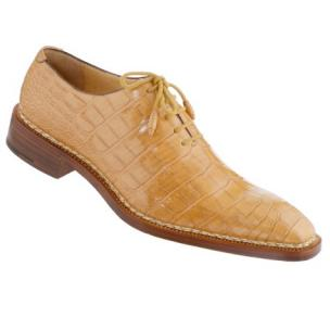 Caporicci 1400 Norwegian Stitch Alligator Oxfords Tan Image