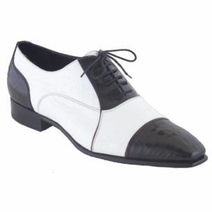 Caporicci 201 Genuine Alligator Spectator Shoes Black / White Image