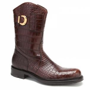 Caporicci Alligator Boots Gold Image
