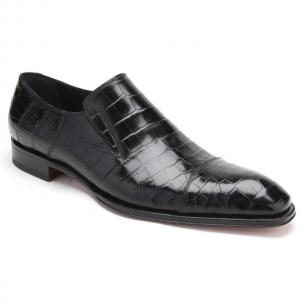 Caporicci 943 Alligator Loafers Black Image