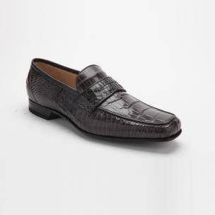 Caporicci 9961 Alligator Penny Loafers Dark Gray Image