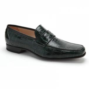 Caporicci 9961 Alligator Penny Loafers Green Image